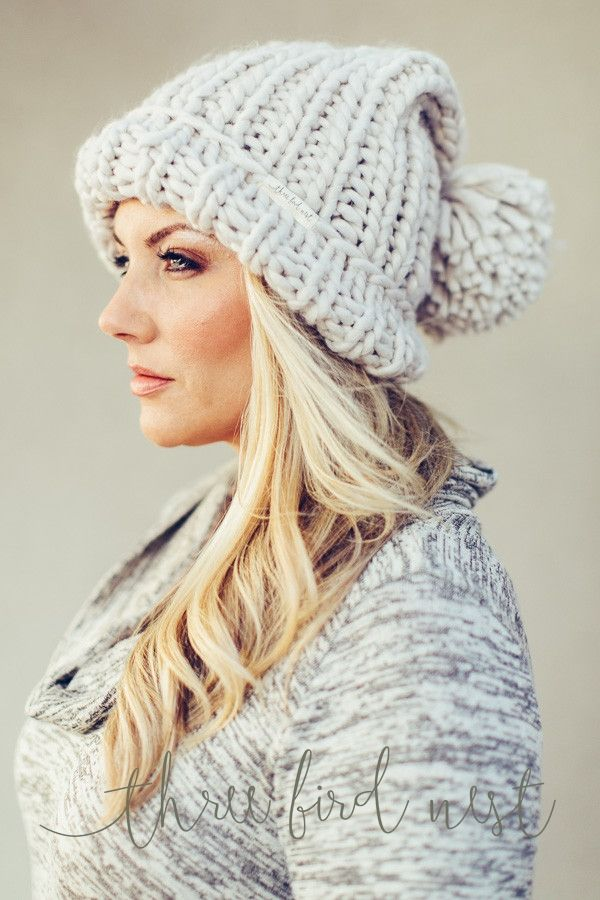 Chunky Knit Beanie {Oatmeal} three bird nest
