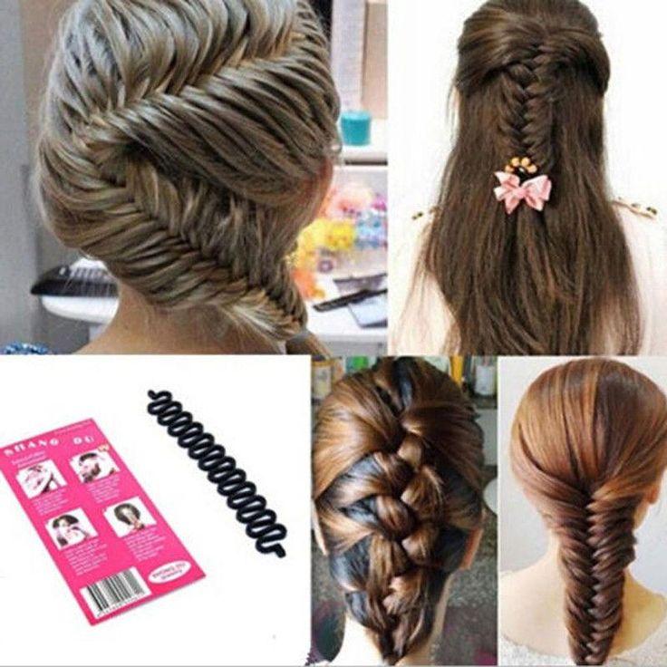 Venda por Atacado moda francesa cabelo de trança ferramenta de rolo com gancho…