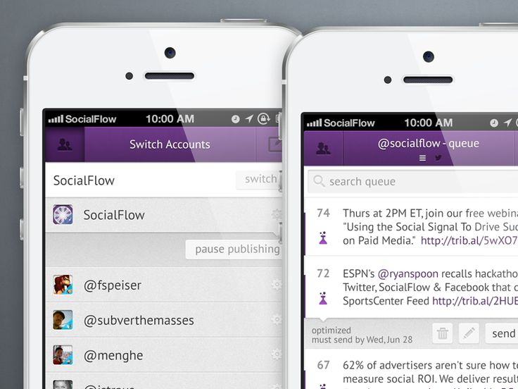 Socialflow Mobile by Meng He
