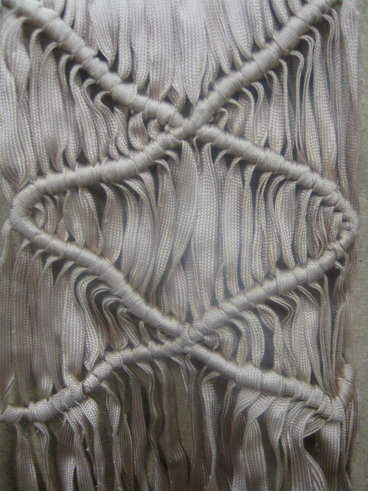 Modern Macrame | constructed textiles design using knots and repetition to create a structured surface | Ffion Griffith