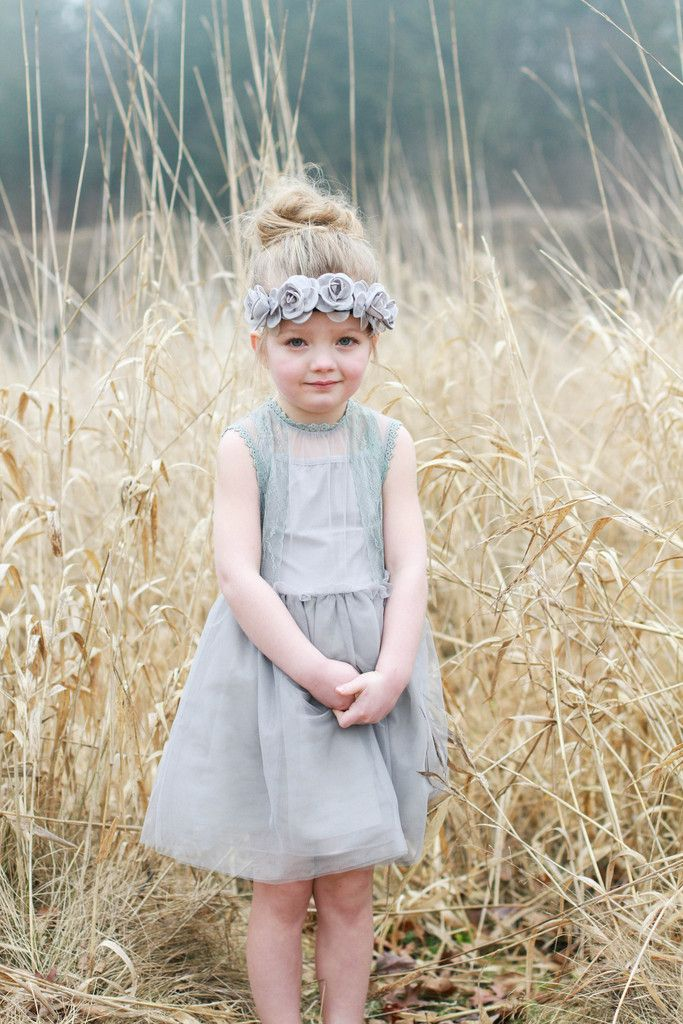 Grey Dava Crown – Arrow & Lace Designs Floral Crown Headband girl