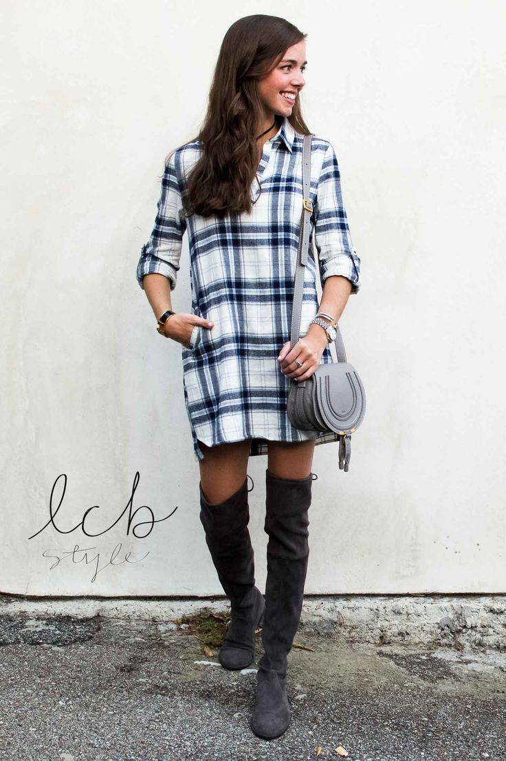Over the Knee Boots make this look a winner! Of course, the Velvet Heart shirt dress isn't so bad, either :) Thanks https://www.pinterest.com/lcbstyle/