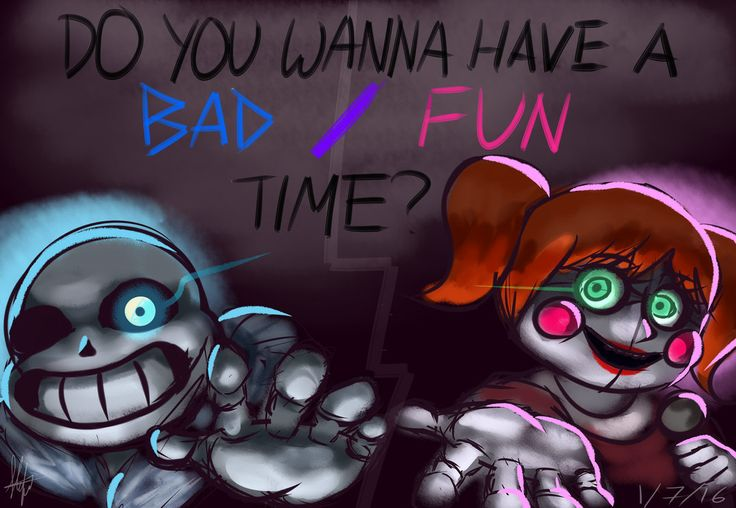 Bad Fun Time [Undertale/Sister Location Crossover] by StefiNJY.deviantart.com on @DeviantArt