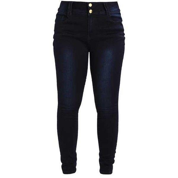 JEAN ASHA SK Jeans Skinny Fit dark denim ZALANDO ❤ liked on Polyvore featuring jeans, blue jeans, skinny leg jeans, super skinny jeans, skinny jeans and dark denim jeans
