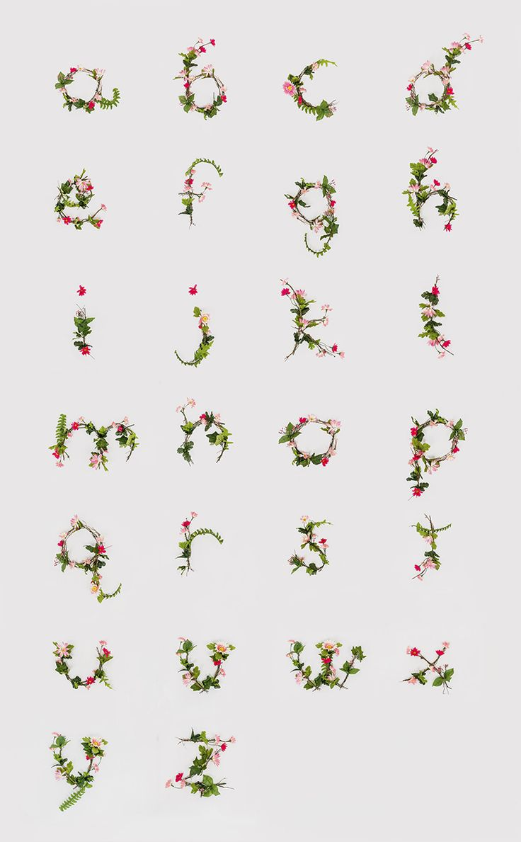 individually photographed floral letters by Anne Lee Designs