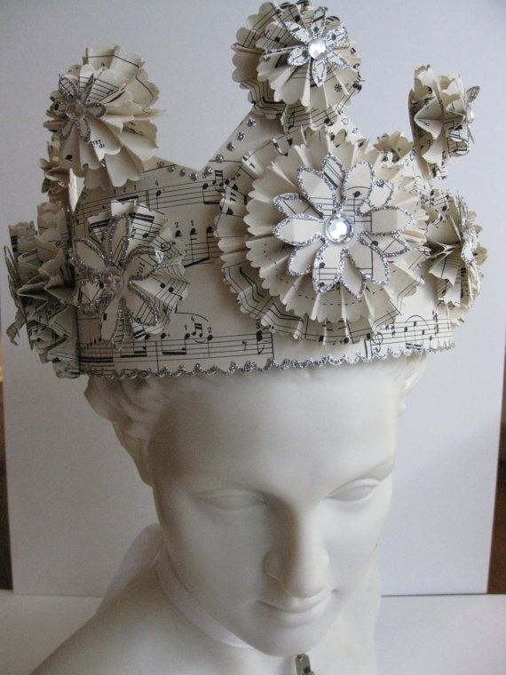 Paper Crown  Princess or Queen by vintagediana on Etsy, $55.00
