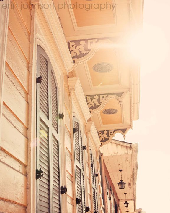 New Orleans Photography Yellow Home Decor French Quarter Art Architecture Sunshine In The