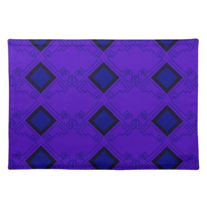 Design elements ethno blue placemat  $15.80  by Bee_and_Glow_Art  - cyo customize personalize diy idea