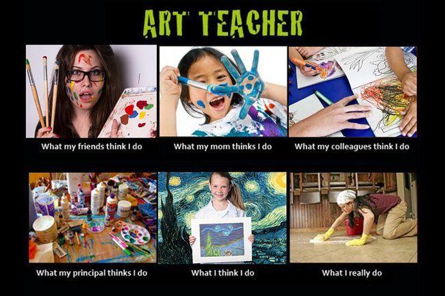 What I Do | Art Teacher Meme | I would change the what I think I do to what I think I try to do