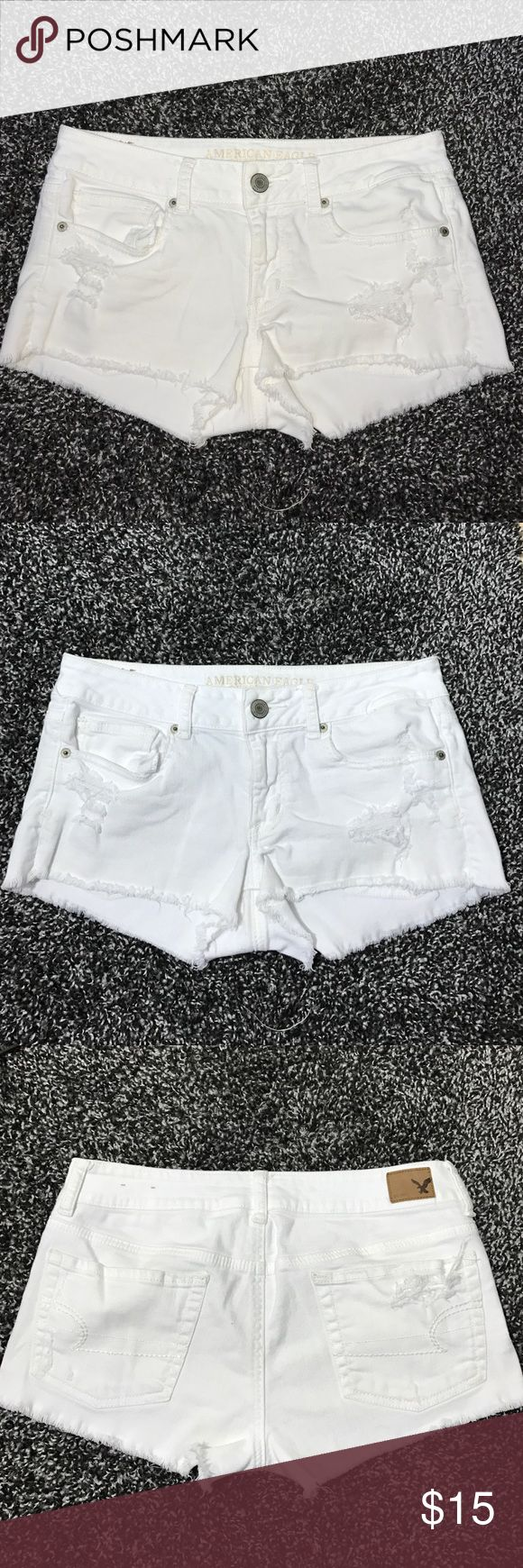American Eagle outfitters White destroy Jeans 6 American Eagle outfitters White destroy Jeans 6 American Eagle Outfitters Shorts Jean Shorts