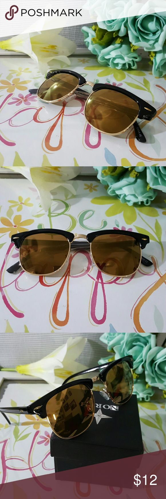 CLUBMASTER STYLE FASHION UNISEX SUNGLASSES 50's Re CLUBMASTER STYLE FASHION UNISEX SUNGLASSES 50's Retro Vintage Semi Rimless Clubmaster Men Women Sunglasses Shades 100% UV400 Protection Against Harmful UVA/UVB Driving  Tags :  Also check my whole closet