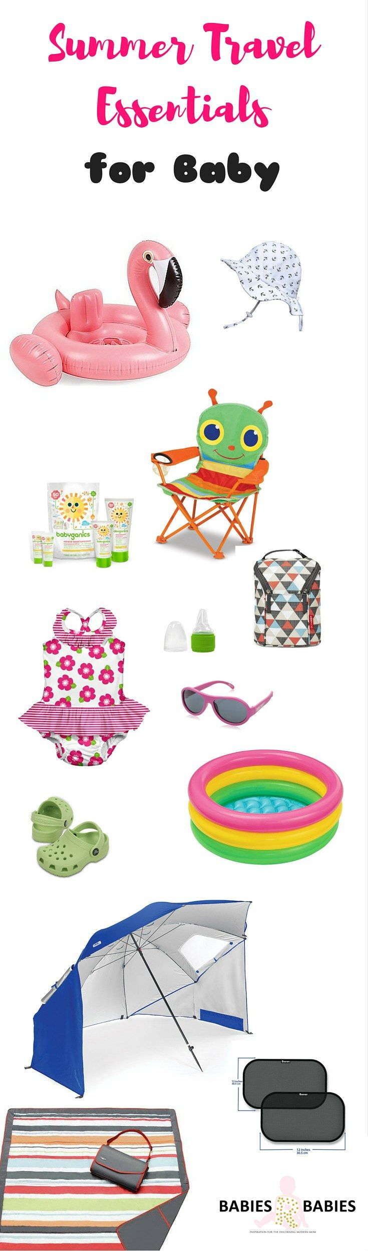 A list of must have essentials to prepare for baby's summer trips.With these summer travel essentials the baby can have a fun, comfortable and safe summer.