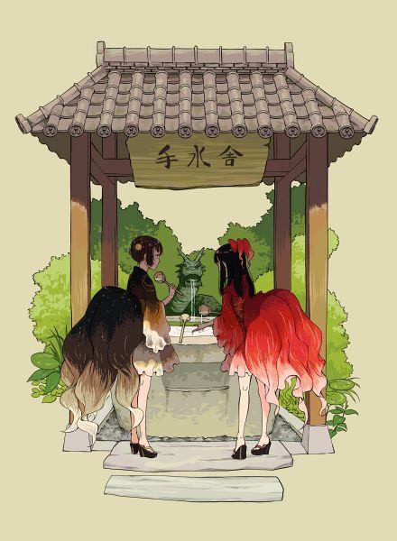"wominago: ""「金魚浴衣」/「拓」のイラスト [pixiv] """
