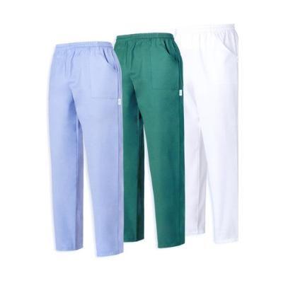 Pantalone con tasca toppa. Tessuto 100% cotone. Disponibile nei colori: BIANCO, VERDE, AZZURRO.