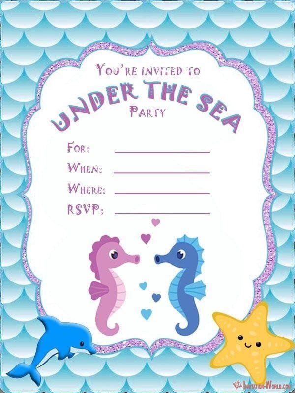 Pin On Printable Invitation Template