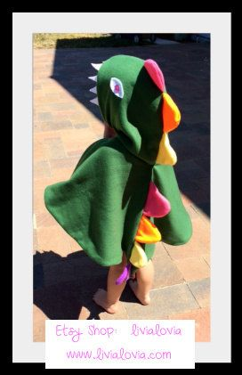 Dinosaur Costume Dinosaur Cape T-Rex Costume T-Rex by livialovia