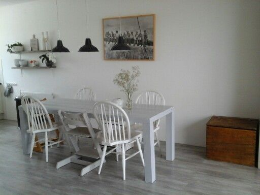 Eetkamer wit grijs | Home | Pinterest