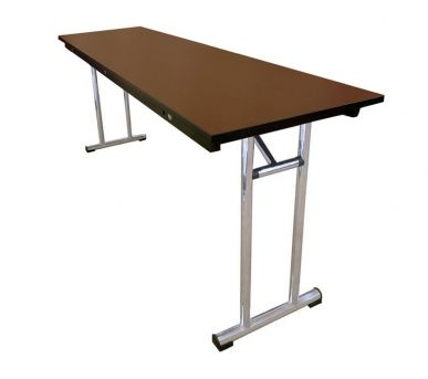 WOODEN TRESTLE TABLE: Alloyfold's laminated trestle tables combine style with practicality. They are strong and easy to set up and pack down.
