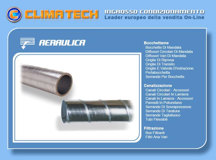 Aeraulica Clima Tech® Bocchettame, canalizzazioni e filtrazione