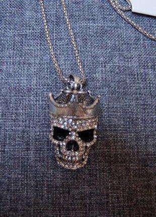 Kaufe meinen Artikel bei #Kleiderkreisel http://www.kleiderkreisel.de/accessoires/ketten-and-anhanger/144276302-totenkopfkette-hochwertiger-modeschmuck-neu