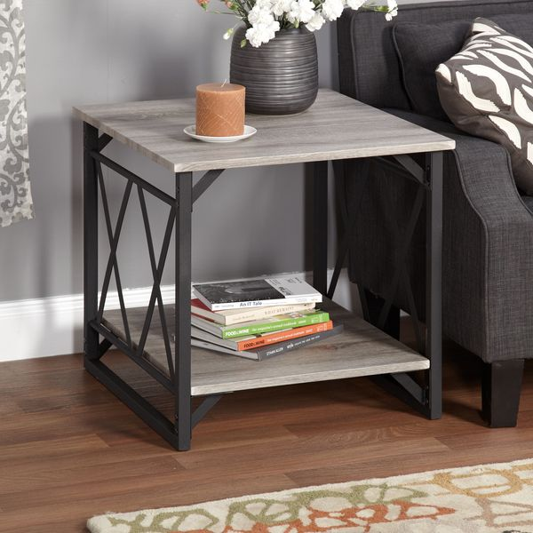 Simple Living Seneca XX Black/ Grey Reclaimed Look End Table - Overstock Shopping - Great Deals on Simple Living Coffee, Sofa & End Tables