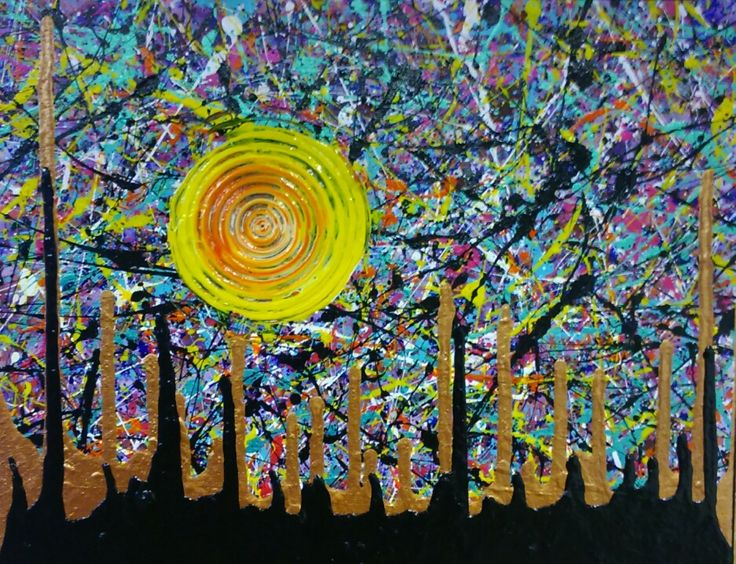 Original abstract painting by Heather Plewes