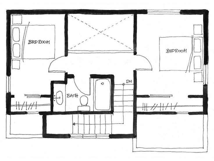 Floor Plan Of The Arbutus Laneway House In Vancouver By Smallworks