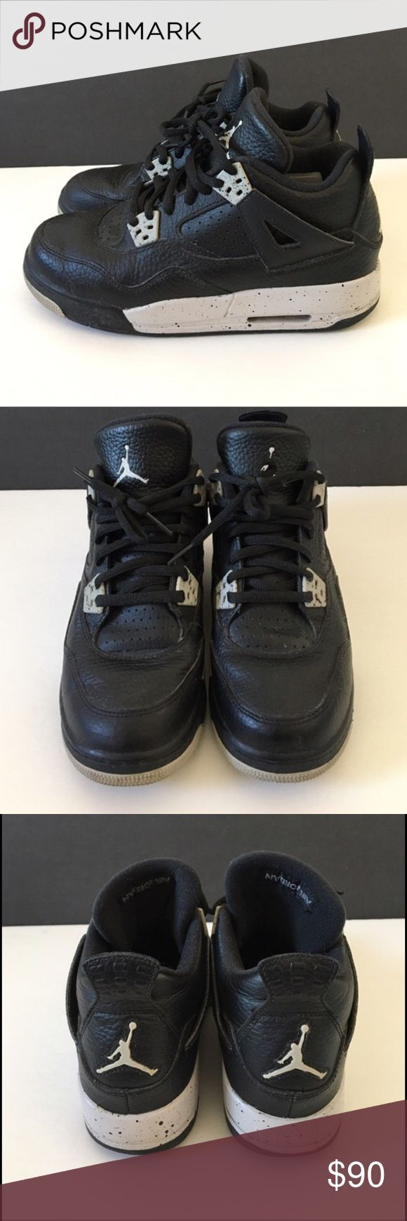 Nike Jordan retro 4 oreo 4y 5.5 women's Bought from another posher, barely worn. Offers accepted! Jordan Shoes Sneakers