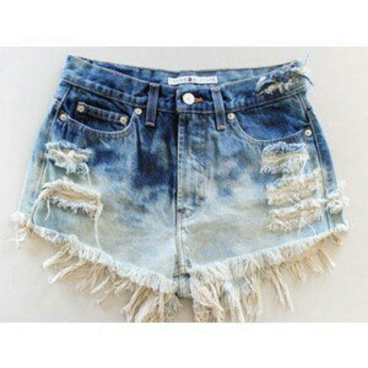 Rip. High waisted shorts. Bleach | FASHION | Pinterest | Bleach