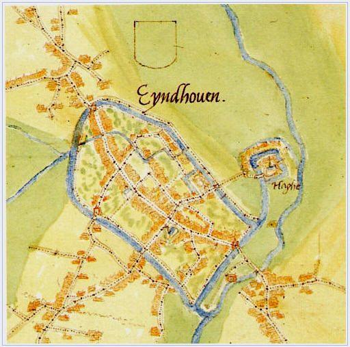 Eyndhoven = Eindhoven 1560 kaart: Jacob van Deventer