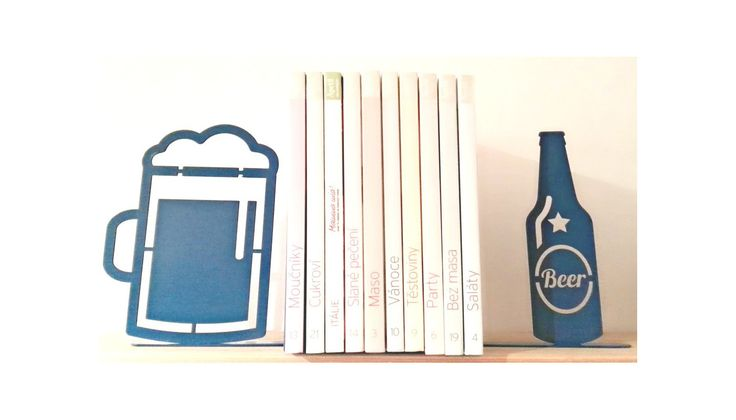 Beer Bookends Set by KureliDesign on Etsy