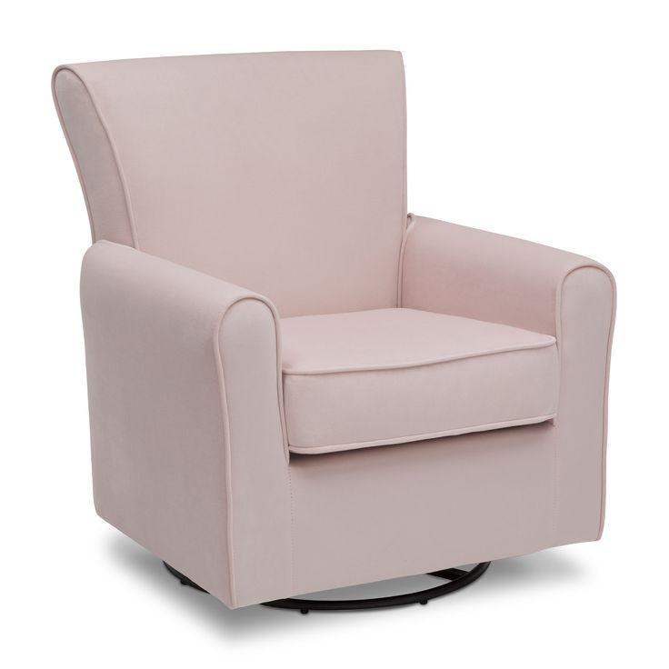 Delta children elena glider swivel rocker chair blush