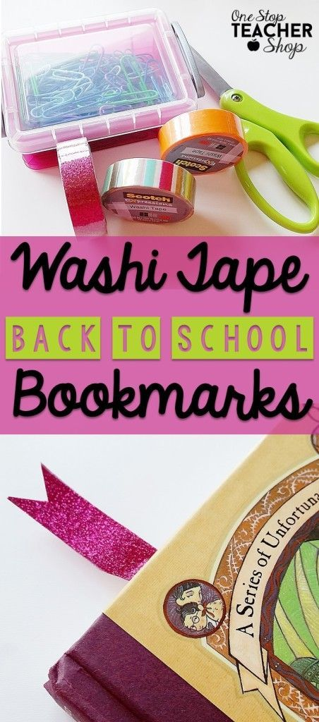 This Back to School craft or gift is perfect for any class and helps promote reading.  Washi Tape bookmarks easy to make too.  Here is a step-by-step guide on how to make them.