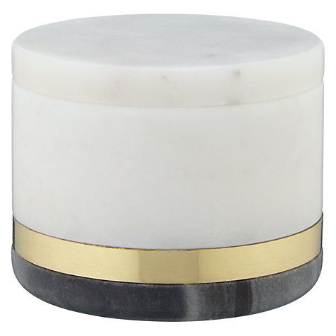 Buy Design Project by John Lewis No.080 Marble and Brass Decorative Jar, Multi Online at johnlewis.com