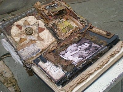 Lisa Jurist's layered work. See blog here and etsy shop here.