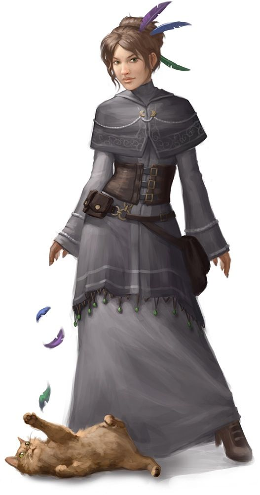 lady and cat (steampunk)
