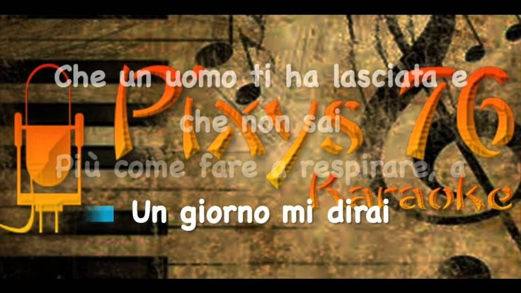Stadio - Un giorno mi dirai Karaoke Cori Sanremo 2016