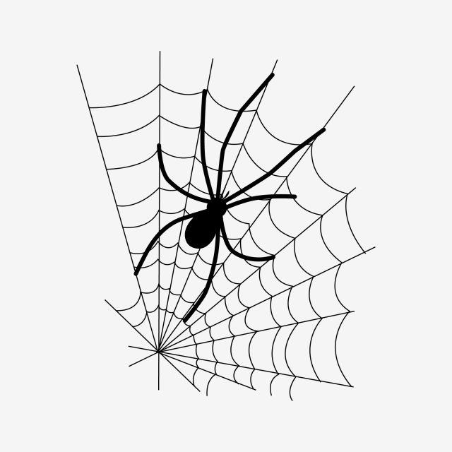 Halloween Black Big Spider And Fine Web Element Pattern Web Clipart Black Big Spider Png And Vector With Transparent Background For Free Download Spider Spider Web Tattoo Big Spiders