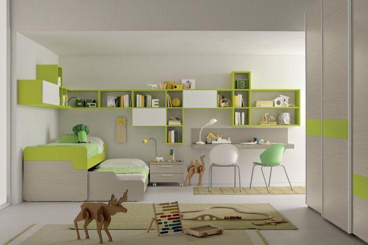 Bedroom ideas for kids in green!
