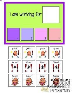 token economy and working cards are great tools for students with special needs and autism.  PBIS