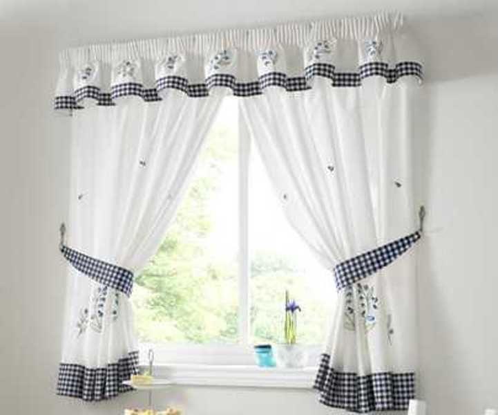 des rideaux de cuisine. Black Bedroom Furniture Sets. Home Design Ideas