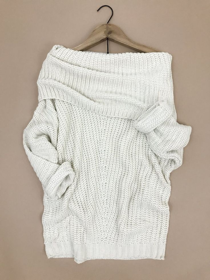 Fold Over Ribbed Sweater. Cozy fall sweaters. Winter outfit. Cream colored sweater. Oversized and comfy. therollinj.com