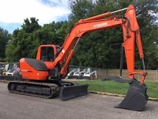 2010 Kubota KX080-3 Rubber Track Excavator Diesel Cab AC Crawler Excavator apply to finance www.bncfin.com/apply excavators for sale - excavator financing