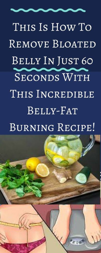 HOW TO REMOVE BLOATED BELLY IN JUST 60 SECONDS WITH THIS INCREDIBLE BELLY-FAT BURNING RECIPE