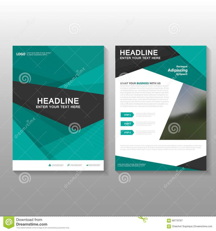 Abstract Green Vector Leaflet Brochure Flyer Business Proposal Template Design, Book Cover Layout Design, Abstract Green Template - Download From Over 43 Million High Quality Stock Photos, Images, Vectors. Sign up for FREE today. Image: 68779797