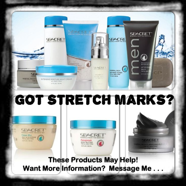 Seacret products nourish and rejuvenate the skin...preferred customer option available and you can earn free products...#ourseacret #skincare #stretchmarks