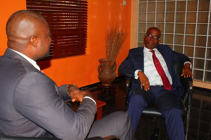 Host,Femi Ipadeola and Abeeb Olamitoye (Guest) during the recording of Enterprise700 TV interview