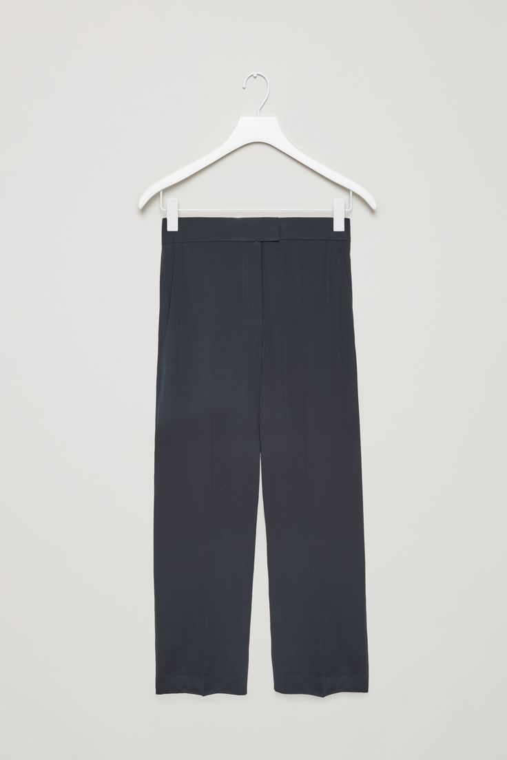 COS | Straight-leg silk trousers