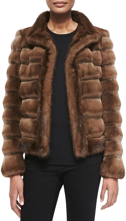 $9,995, Brown Fur Jacket: Zac Posen Sheared Mink Fur Jacket. Sold by Neiman Marcus. Click for more info: https://lookastic.com/women/shop_items/106629/redirect