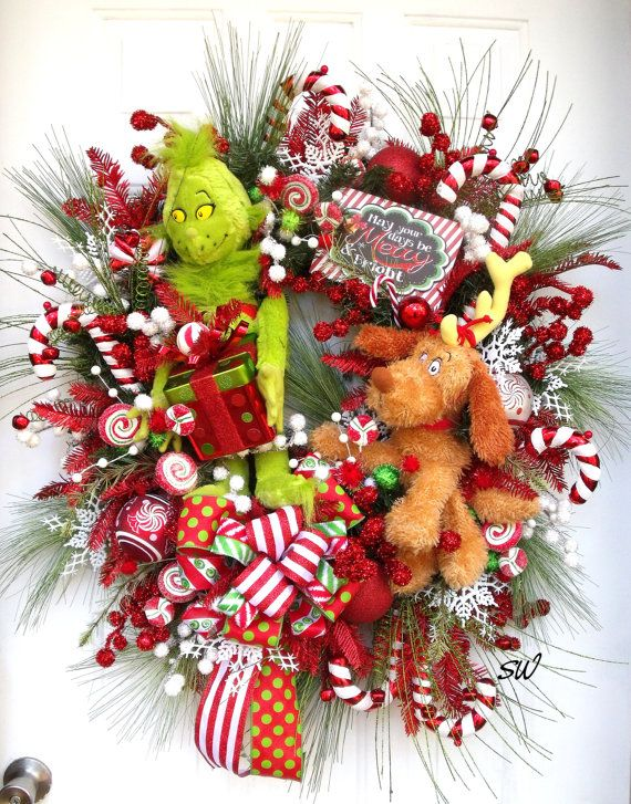 Christmas Wreath-Grinch and Max Wreath-Candy by SeasonalWreaths